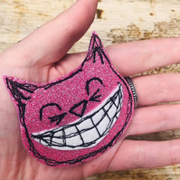 Cheshire Cat Glitter Magnet
