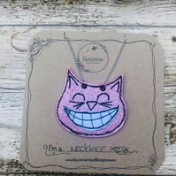 Cheshire Cat Glitter Necklace