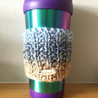 Knitted Travel Cup Cosy Sleeve