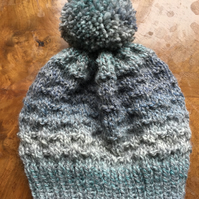 Baby Toddler Hand Knitted Pom Pom Hat