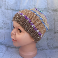 Hand Knitted Children's Beanie Hat