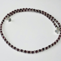 Strawberry Quartz and Garnet Necklace