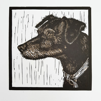 Original Dog Lino Print (brown)