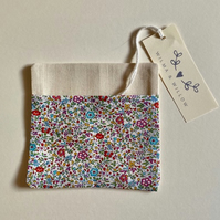 Liberty washable face mask bag- pouch- storage