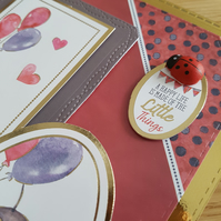 New baby handmade greeting card - a happy life is made up of little things