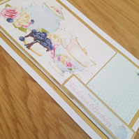 Have a tea-licious birthday - Handmade birthday card, afternoon tea voucher card