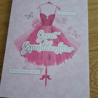Great granddaughter handmade card - Friends and family collection