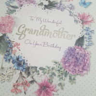 Wonderful grandmother handmade greeting card - Friends and family collection