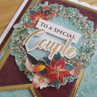 To a special couple handmade Christmas card - Christmas wishes