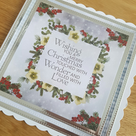 Christmas cards - Wishing you a merry christmas touched with .....