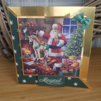 Magical Christmas - reduced, sale handmade christmas card