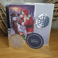 Sale - Christmas card - With love at Christmas
