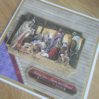 Nativity handmade Christmas card - Sale, Reduced card