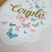 Wonderful couple with love - Handmade greeting card - friends and family