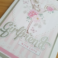 Beautiful girlfriend with love handmade card - friends and family collection