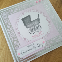 On your Christening day - baby girl - Pink