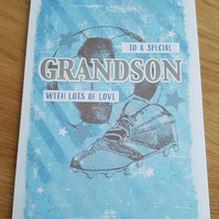 Grandson handmade card - Friends and family collection - Football