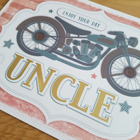 Enjoy your day uncle - Handmade birthday card - Friends and family collection