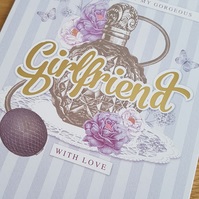 Gorgeous girlfriend handmade card - Perfume - Friends and family collection
