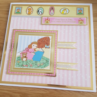 Little princess handmade greeting card - Birthday - Age can be added on request