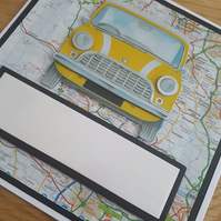 Mini handmade greeting card - Birthday, U passed - driving test, retirement etc