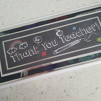 Thank you teacher handmade greeting card