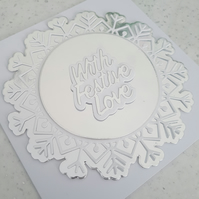 With festive love handmade greeting card - Christmas