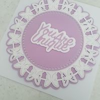 You are unique - Handmade greeting card - Butterflies
