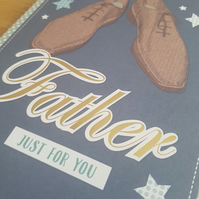 Father handmade greeting card - Friends and family collection - Shoes - Birthday