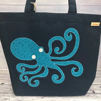 Organic Cotton Octopus Tote