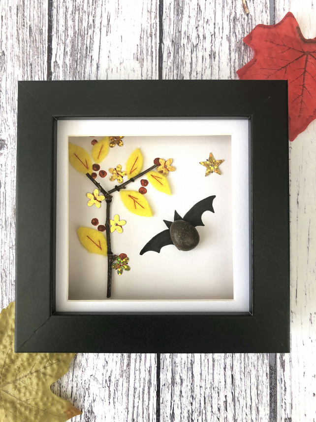 Pebble Bat Framed Picture