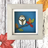 Pebble Owl Framed Picture