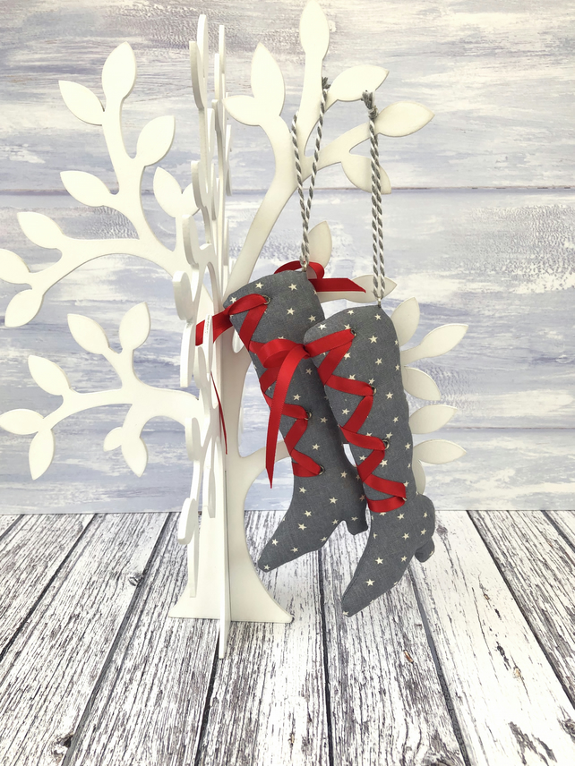 Hanging boots decoration