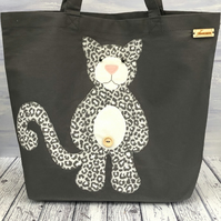 Snow Leopard Organic Cotton Tote