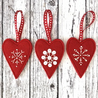 Heart & Snowflake decorations