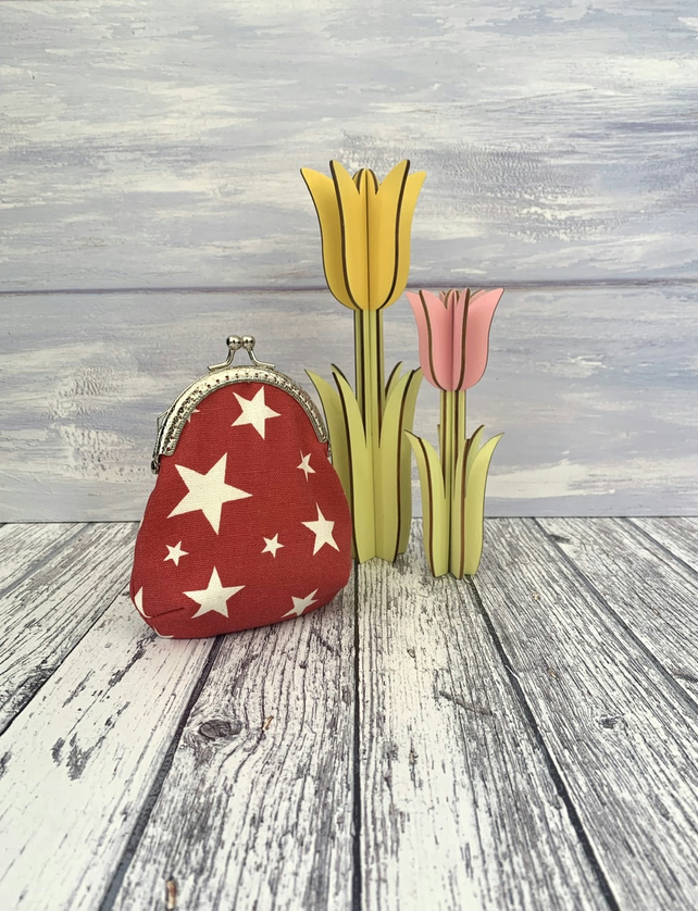Framed Star print purse