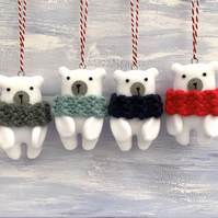 Polar Bear hanging decoration
