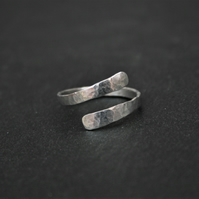 Silver Wrap Ring, Custom Made Hammered Sterling Silver Ring, Made in Southsea