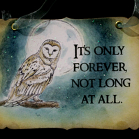 IT'S ONLY FOREVER - Vintage The Labyrinth Sign - Decoration - David Bowie