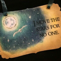 I MOVE THE STARS FOR NO ONE - Vintage The Labyrinth Sign - Decor - David Bowie