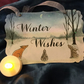 Winter Wishes Woodland Animals Christmas Sign - Fox, Hare and Rabbit