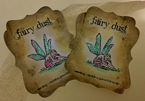 Fairy Dust Bottle Stickers - Set of 5