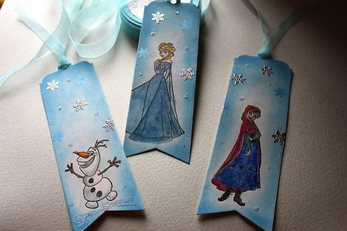 3 Frozen Movie Themed Bookmarks Children's Gift or Party Favours
