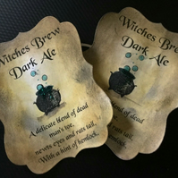 'Witches Brew' Halloween Bottle Stickers - Set of 8