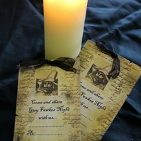 Guy Fawkes Bonfire Night Invites x 8 5th of November