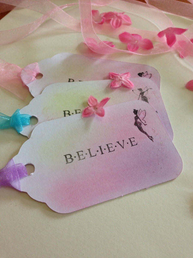 Believe In Fairies Wedding Etc Wish Tree Gift Tags Set Of 10