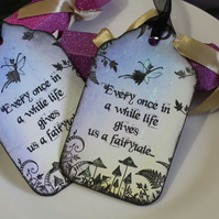 Life Gives Us A Fairytale Tags - Set of 6 Fairies
