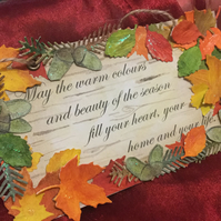 Seasonal Thanksgiving Sign Decoration - Thanksgiving, Fall and Autumn