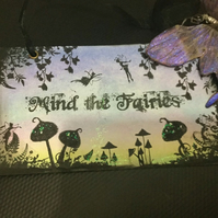 Mind The Fairies Sign, Prop and Decoration