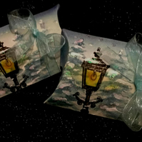 Narnia Snowy Lampost and Woodland Pillow Boxes - Set of 8